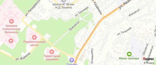 Змеиногорский 1-й проезд на карте Барнаула с номерами домов