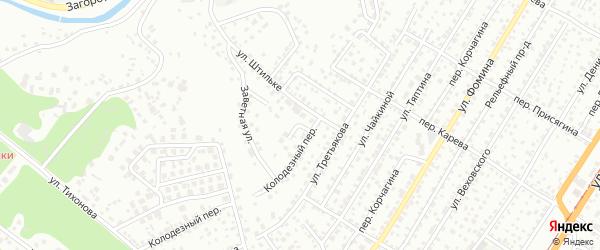 Прохладный переулок на карте Барнаула с номерами домов