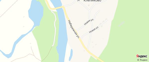 Набережная улица на карте села Клепиково с номерами домов