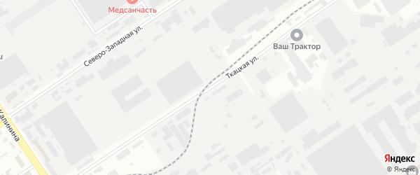 Ткацкая улица на карте Барнаула с номерами домов