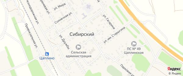 Первомайская улица на карте Сибирского поселка с номерами домов