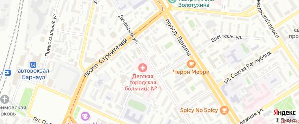 Деповская улица на карте Барнаула с номерами домов
