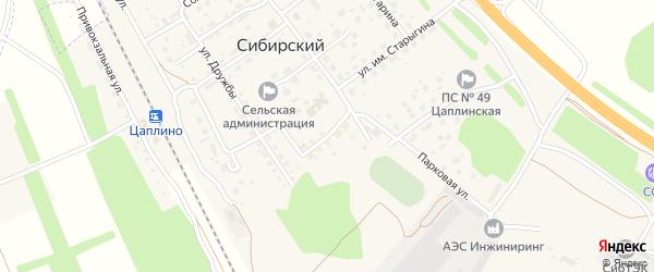 Южная улица на карте Сибирского поселка с номерами домов