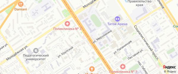 Улица Крупской на карте Барнаула с номерами домов