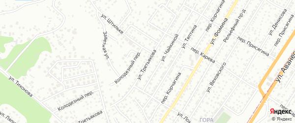 Улица Третьякова на карте Барнаула с номерами домов