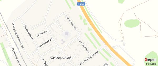 Улица Гагарина на карте Сибирского поселка с номерами домов