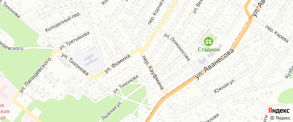 Переулок Кауфмана на карте Барнаула с номерами домов