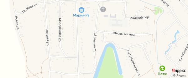 Школьная улица на карте села Повалиха с номерами домов