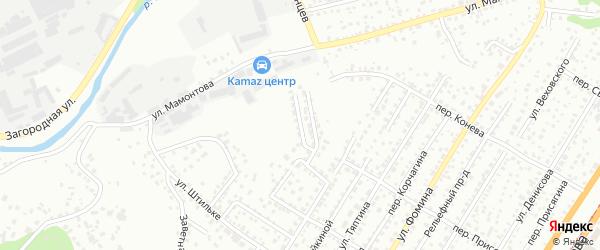 Проезд Чапаева на карте Барнаула с номерами домов