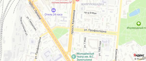 Улица Профинтерна на карте Барнаула с номерами домов