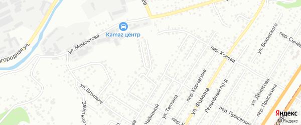 Улица Заводской Взвоз на карте Барнаула с номерами домов