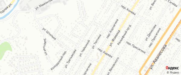 Улица Чайкиной на карте Барнаула с номерами домов