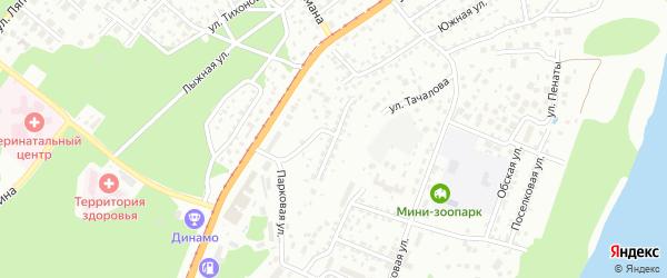 Санаторный проезд на карте Барнаула с номерами домов