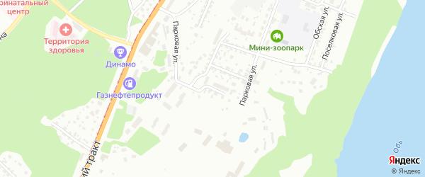 Парковая улица на карте Барнаула с номерами домов