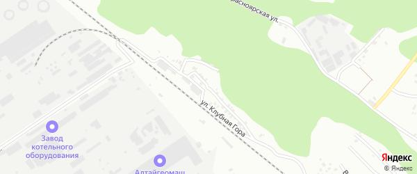 Улица Клубная Гора на карте Барнаула с номерами домов