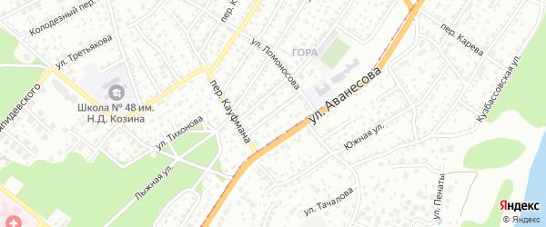 Дальний проезд на карте Барнаула с номерами домов