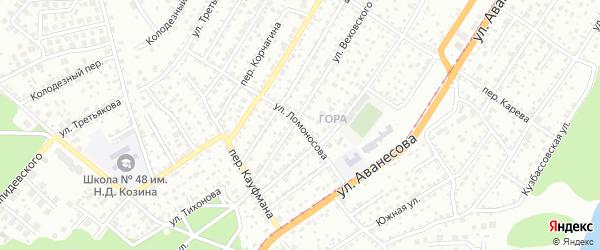 Улица Ломоносова на карте Барнаула с номерами домов