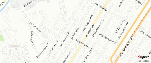 Улица Тяптина на карте Барнаула с номерами домов