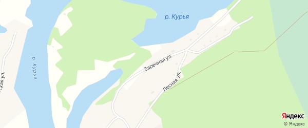 Заречная улица на карте села Клепиково с номерами домов