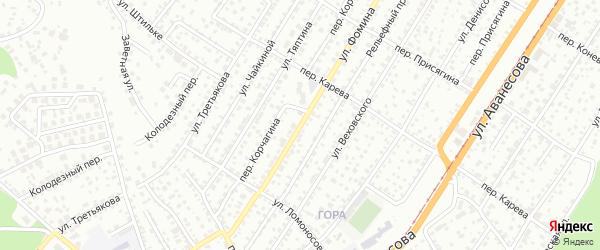 Улица Фомина на карте Барнаула с номерами домов