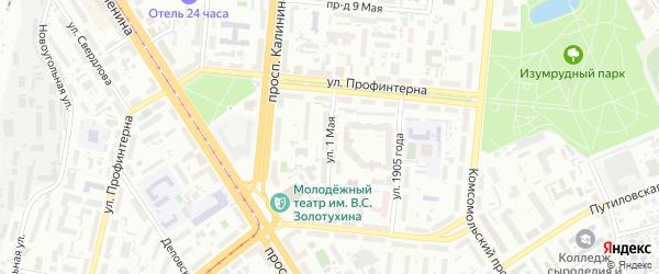 1-я улица на карте садового некоммерческого товарищества Березовой рощи с номерами домов