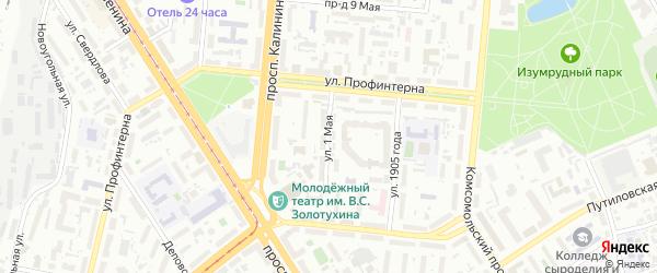 1-я улица на карте садового некоммерческого товарищества Березки с номерами домов