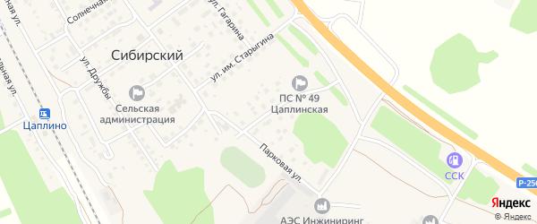 Парковая улица на карте Сибирского поселка с номерами домов
