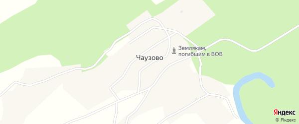 Колхозная улица на карте села Чаузово с номерами домов