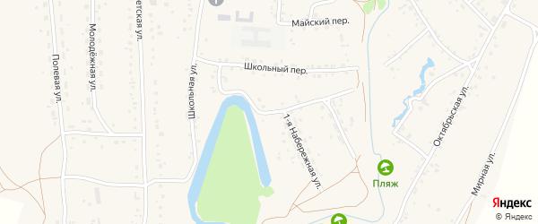1-я Набережная улица на карте села Повалиха с номерами домов