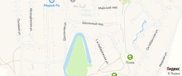 Набережная улица на карте села Повалиха с номерами домов