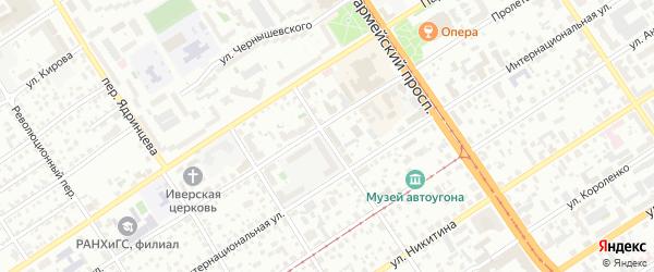 Переулок Радищева на карте Барнаула с номерами домов