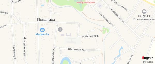 Лесной переулок на карте села Повалиха с номерами домов