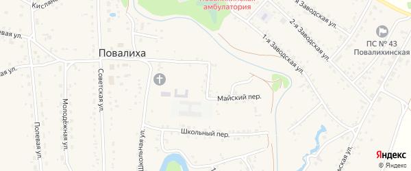 Луговая улица на карте села Повалиха с номерами домов
