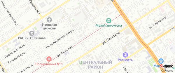 Улица Анатолия на карте Барнаула с номерами домов