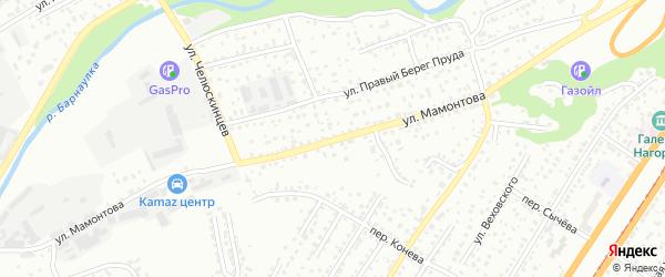 Улица Мамонтова на карте Барнаула с номерами домов