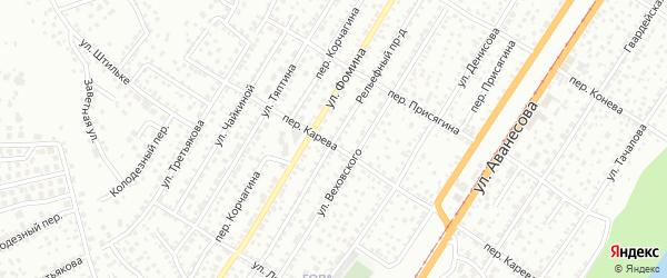 Рельефный проезд на карте Барнаула с номерами домов