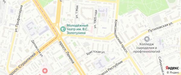 Советская улица на карте Барнаула с номерами домов