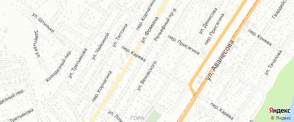 Переулок Карева на карте Барнаула с номерами домов