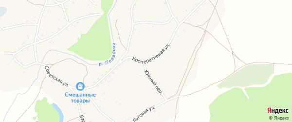 Кооперативная улица на карте села Повалиха с номерами домов