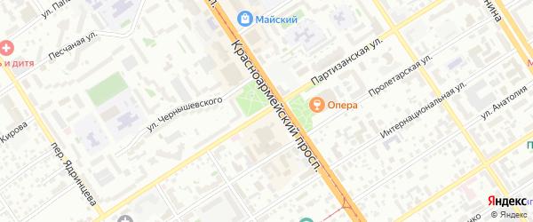 Партизанская улица на карте Барнаула с номерами домов