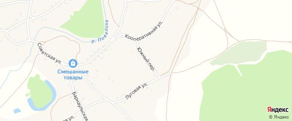 Южный переулок на карте села Повалиха с номерами домов