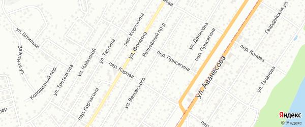 Улица Веховского на карте Барнаула с номерами домов