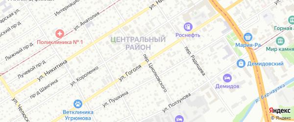Улица Гоголя на карте Барнаула с номерами домов