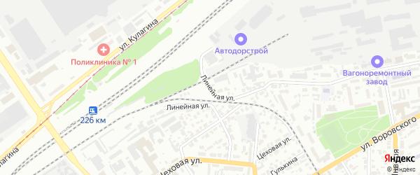 Линейная улица на карте Барнаула с номерами домов