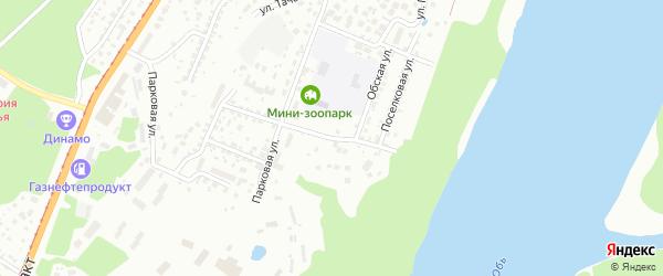 Обская улица на карте поселка Бельмесево с номерами домов