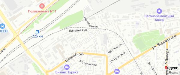 Коллективная улица на карте Барнаула с номерами домов