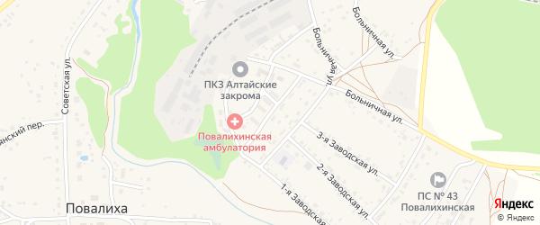 Юбилейная улица на карте села Повалиха с номерами домов