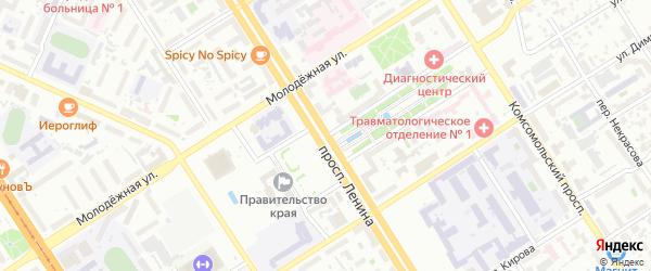 Улица Шевченко на карте Барнаула с номерами домов