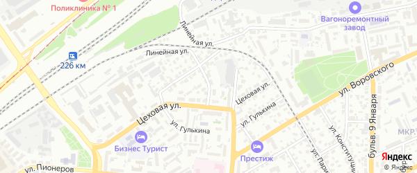 Хлебозаводская улица на карте Барнаула с номерами домов