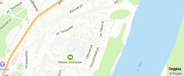 Улица Пенаты на карте Барнаула с номерами домов